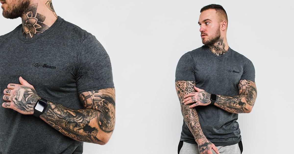 Tričko Basic Dark Grey - GymBeam
