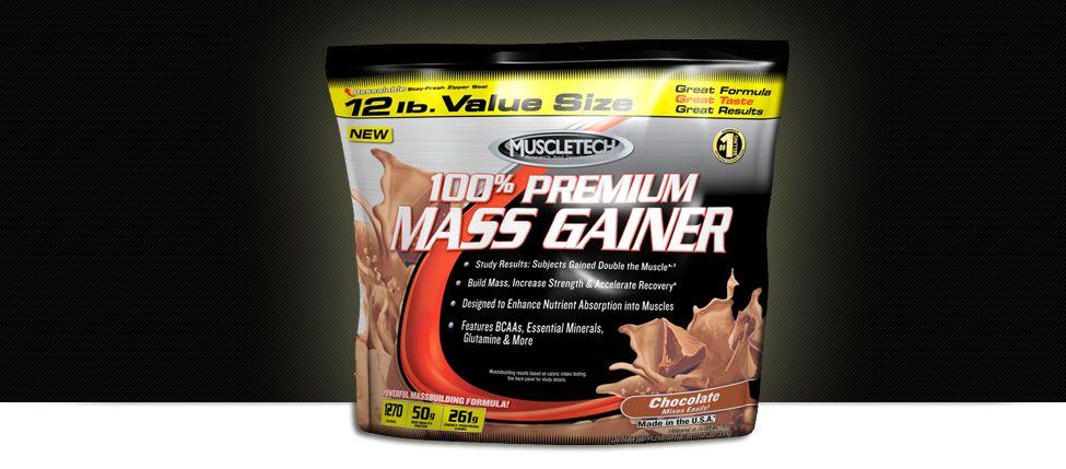 100% Premium Mass Gainer banner