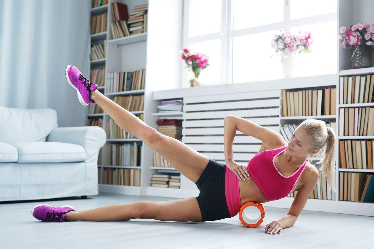 Valec na cvičenie Fitness Roller Orange gymbeam