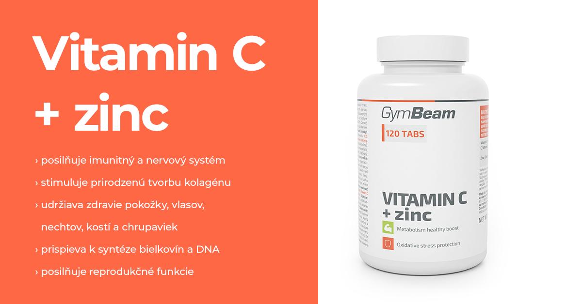 Vitamín C + zinok - GymBeam