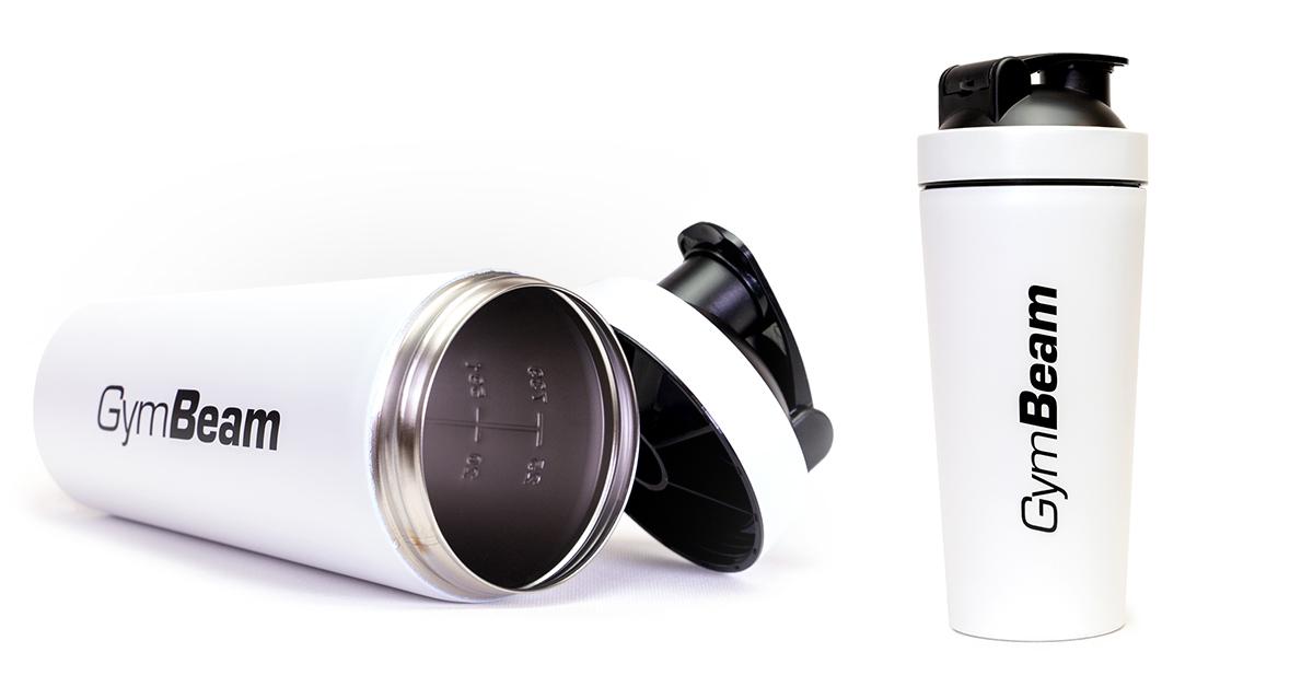 Šejker Steel White 750 ml - Gymbeam