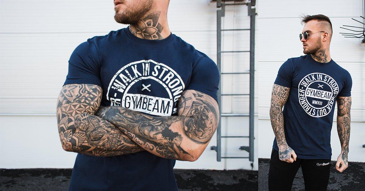Tričko Walk In Strong Navy - GymBeam