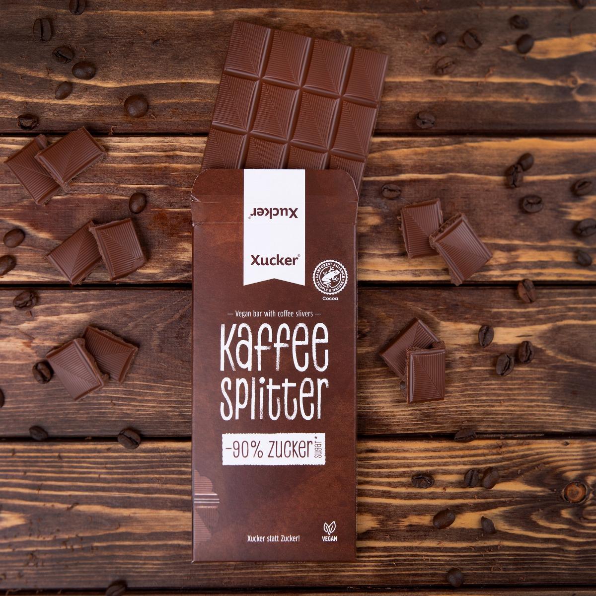 Vegánska čokoláda s kúskami kávy - Xucker