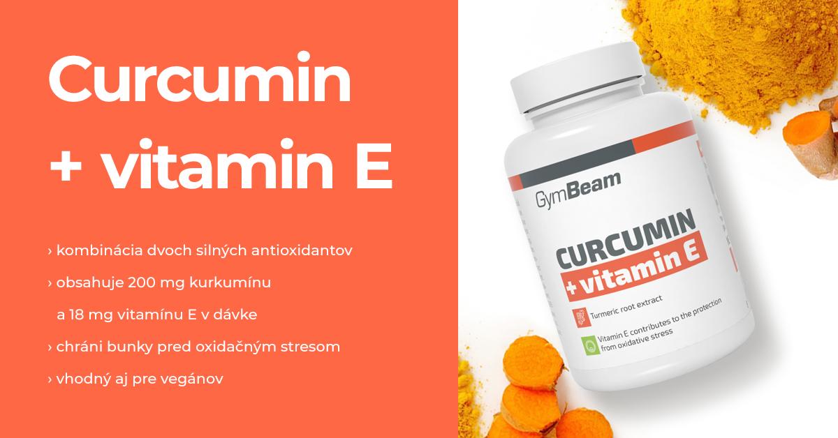 Kurkumín + Vitamín E - GymBeam