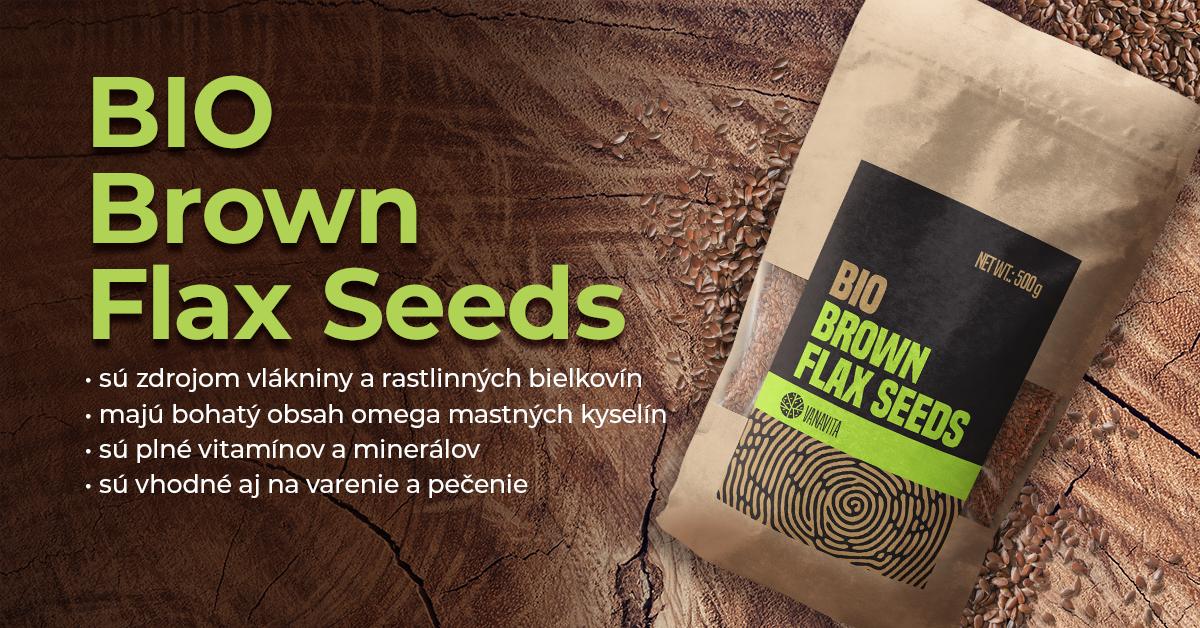 BIO ľanové semená hnedé - VanaVita