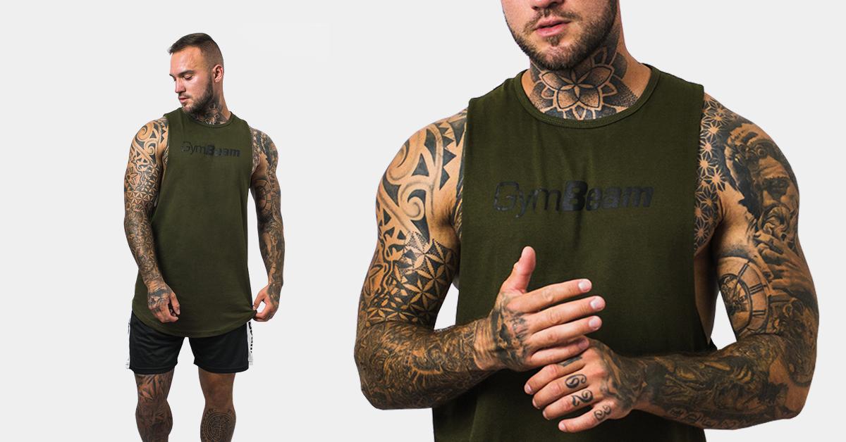 Tielko Cut Off Military Green - Gym Beam