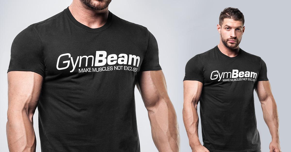 Tričko Make Muscles Black - GymBeam