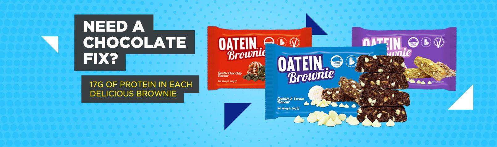 Proteínová sušienka Oatein Brownie 60 g - Oatein