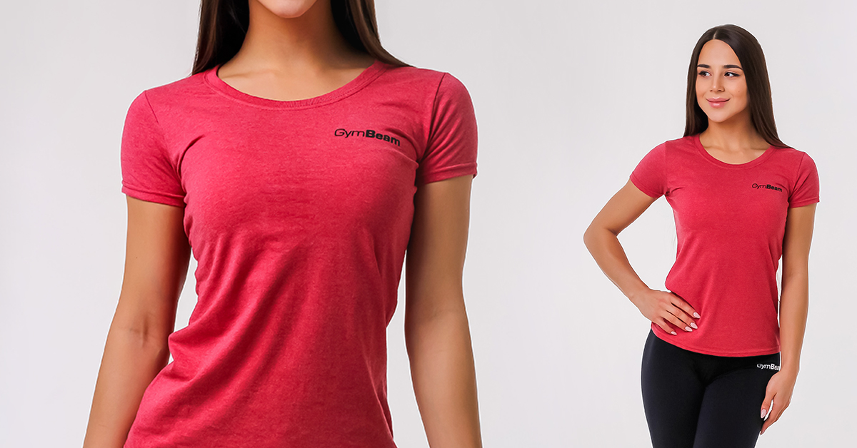 Dámske tričko Basic Vintage Red - GymBeam