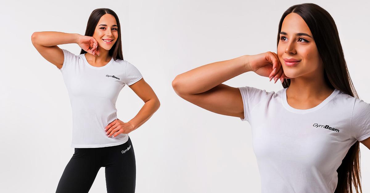 Dámske tričko Basic White - GymBeam