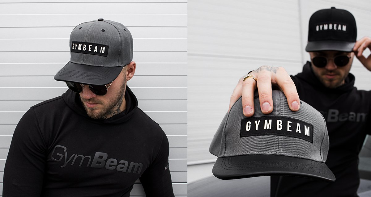 Šiltovka Superior Snapback Grey - Gymbeam