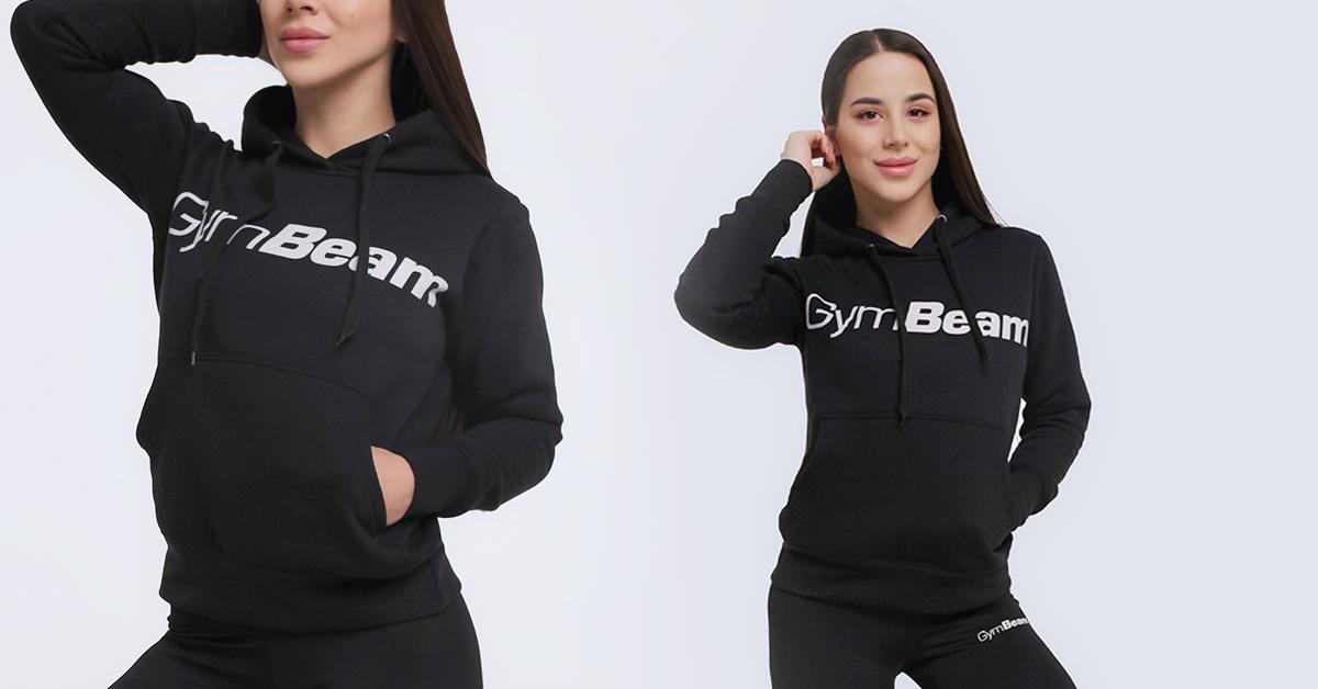Dámska mikina Athlete Black - GymBeam